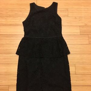 Banana republic black lace dress size 8